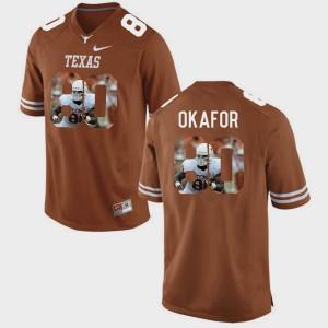 Mens UT #80 Alex Okafor Brunt Orange Pictorial Fashion Jersey 606858-382
