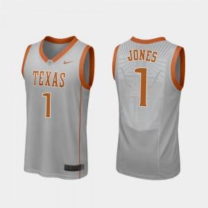 Men's UT #1 Andrew Jones Gray Replica College Basketball Jersey 808502-916