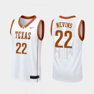 Mens UT #22 Blake Nevins White Replica College Basketball Jersey 455967-163