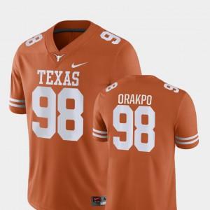 For Men's University of Texas #98 Brian Orakpo Orange Game College Football Jersey 734255-897