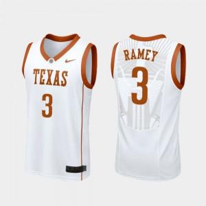 For Men University of Texas #3 Courtney Ramey White Replica College Basketball Jersey 260754-499