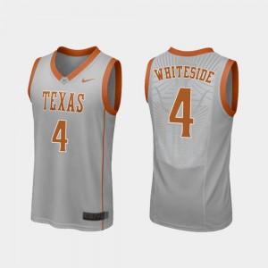 Mens UT #4 Drayton Whiteside Gray Replica College Basketball Jersey 124938-176