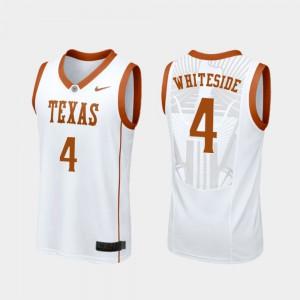 For Men UT #4 Drayton Whiteside White Replica College Basketball Jersey 960866-284
