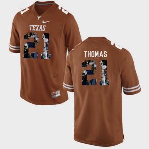Men Longhorns #21 Duke Thomas Brunt Orange Pictorial Fashion Jersey 266507-967