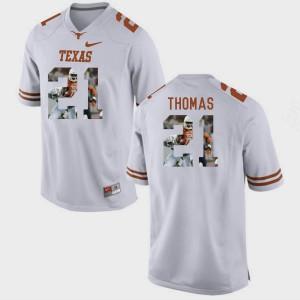 Men's University of Texas #21 Duke Thomas White Pictorial Fashion Jersey 300175-428
