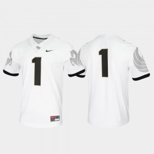 Men University of Central Florida #1 White Untouchable Game Jersey 592765-265