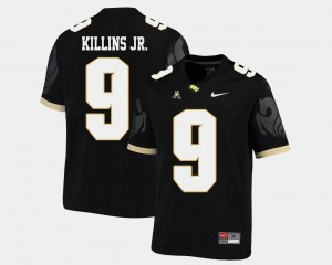 Men's UCF Knights #9 Adrian Killins Jr. Black College Football American Athletic Conference Jersey 414224-223