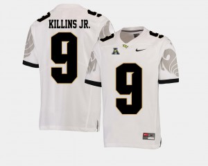 Men's UCF #9 Adrian Killins Jr. White College Football American Athletic Conference Jersey 731802-135