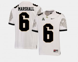 Mens Knights #6 Brandon Marshall White College Football American Athletic Conference Jersey 723705-899