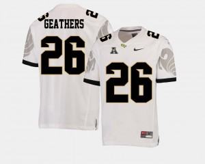 For Men UCF #26 Clayton Geathers White College Football American Athletic Conference Jersey 958421-229