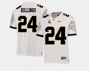 For Men UCF #24 D.J. Killings White College Football American Athletic Conference Jersey 506930-510