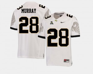 For Men UCF Knights #28 Latavius Murray White College Football American Athletic Conference Jersey 993764-492