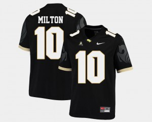 Men's UCF Knights #10 Mckenzie Milton Black College Football American Athletic Conference Jersey 175767-779