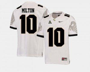 Mens UCF Knights #10 Mckenzie Milton White College Football American Athletic Conference Jersey 900602-318