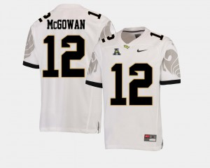 For Men UCF #12 Taj McGowan White College Football American Athletic Conference Jersey 297869-351
