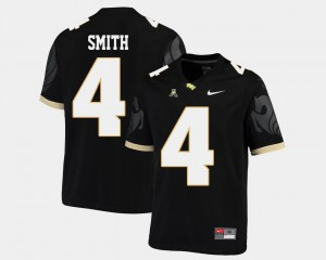 Men's UCF #4 Tre'Quan Smith Black College Football American Athletic Conference Jersey 928377-111