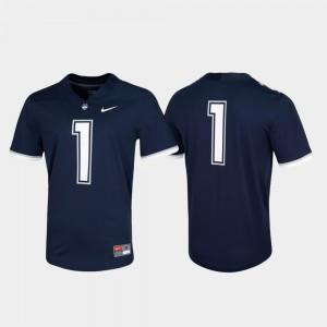 Men's Connecticut Huskies #1 Navy Untouchable Game Jersey 385162-381