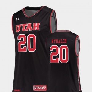 Men's University of Utah #20 Beau Rydalch Black Replica College Basketball Jersey 164821-193