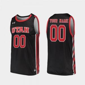 Men's University of Utah #00 Black Replica 2019-20 College Basketball Custom Jerseys 115678-533