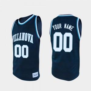 For Men's Villanova Wildcats #00 Navy Alumni College Basketball Customized Jersey 676661-462