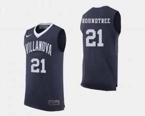 Mens Villanova Wildcats #21 Dhamir Cosby-Roundtree Navy College Basketball Jersey 646256-634