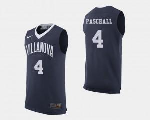 Men Villanova #4 Eric Paschall Navy College Basketball Jersey 496430-840