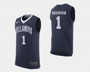 Men Villanova University #1 Jalen Brunson Navy College Basketball Jersey 163550-724