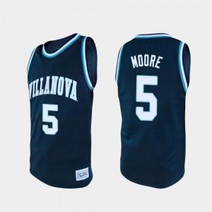 Men Villanova Wildcats #5 Justin Moore Navy Alumni College Basketball Jersey 476717-828