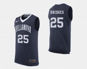 For Men's Wildcats #25 Mikal Bridges Navy College Basketball Jersey 197854-569