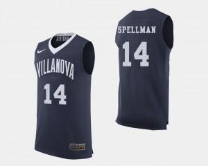 For Men's Wildcats #14 Omari Spellman Navy College Basketball Jersey 321865-981