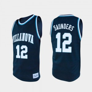 For Men Nova #12 Tim Saunders Navy Alumni College Basketball Jersey 830478-823