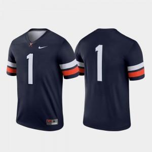 Mens UVA #1 Navy Legend Jersey 588740-309