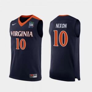 Mens Virginia #10 Jayden Nixon Navy 2019 Final-Four Replica Jersey 483000-164