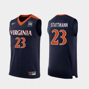 For Men Virginia #23 Kody Stattmann Navy 2019 Final-Four Replica Jersey 922910-944