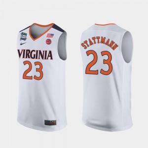 For Men's UVA #23 Kody Stattmann White 2019 Final-Four Jersey 846977-941