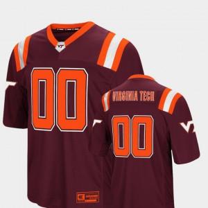 Men Virginia Tech #00 Maroon Foos-Ball Football Colosseum Jersey 236848-445