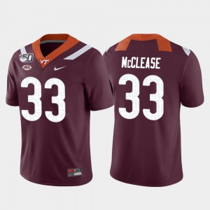 Men's Virginia Tech Hokies #33 Deshawn McClease Maroon Game College Football Jersey 944086-352
