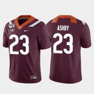 Men Hokies #23 Rayshard Ashby Maroon Game College Football Jersey 561242-869