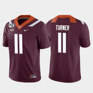 Men VT #11 Tre Turner Maroon Game College Football Jersey 896827-980