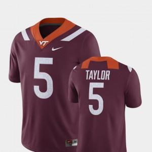 For Men's Hokie #5 Tyrod Taylor Maroon Alumni Football Game Player Jersey 879081-127