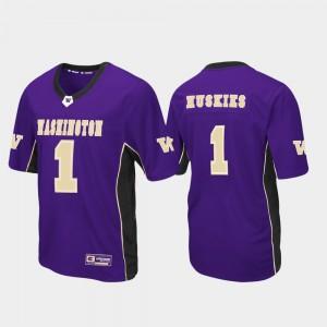 Men UW #1 Purple Max Power Football Jersey 265550-848
