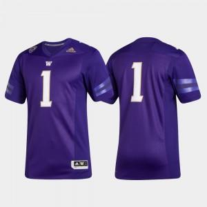 Men's UW #1 Purple Premier College Football Jersey 426596-439