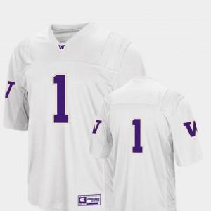 Men University of Washington #1 White College Football Colosseum 2018 Jersey 987775-827