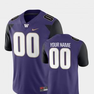 Men's Washington #00 Purple College Football 2018 Game Customized Jerseys 690067-220