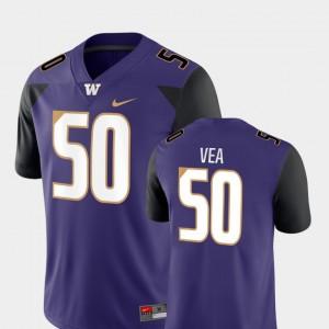 Men's UW #50 Vita Vea Purple Game College Football Jersey 268943-316