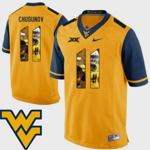 For Men WV #11 Chris Chugunov Gold Pictorial Fashion Football Jersey 353233-224