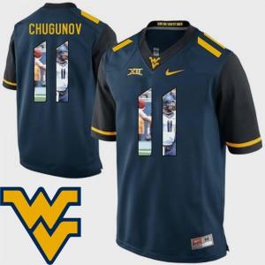Men Mountaineers #11 Chris Chugunov Navy Pictorial Fashion Football Jersey 204003-472