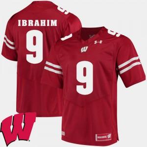 Men's Wisconsin Badger #9 Rachid Ibrahim Red Alumni Football Game 2018 NCAA Jersey 214869-548