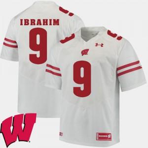 For Men Wisconsin Badgers #9 Rachid Ibrahim White Alumni Football Game 2018 NCAA Jersey 112070-254