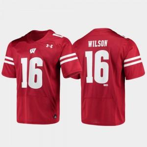For Men UW #16 Russell Wilson Red Replica Alumni Football Jersey 162095-345